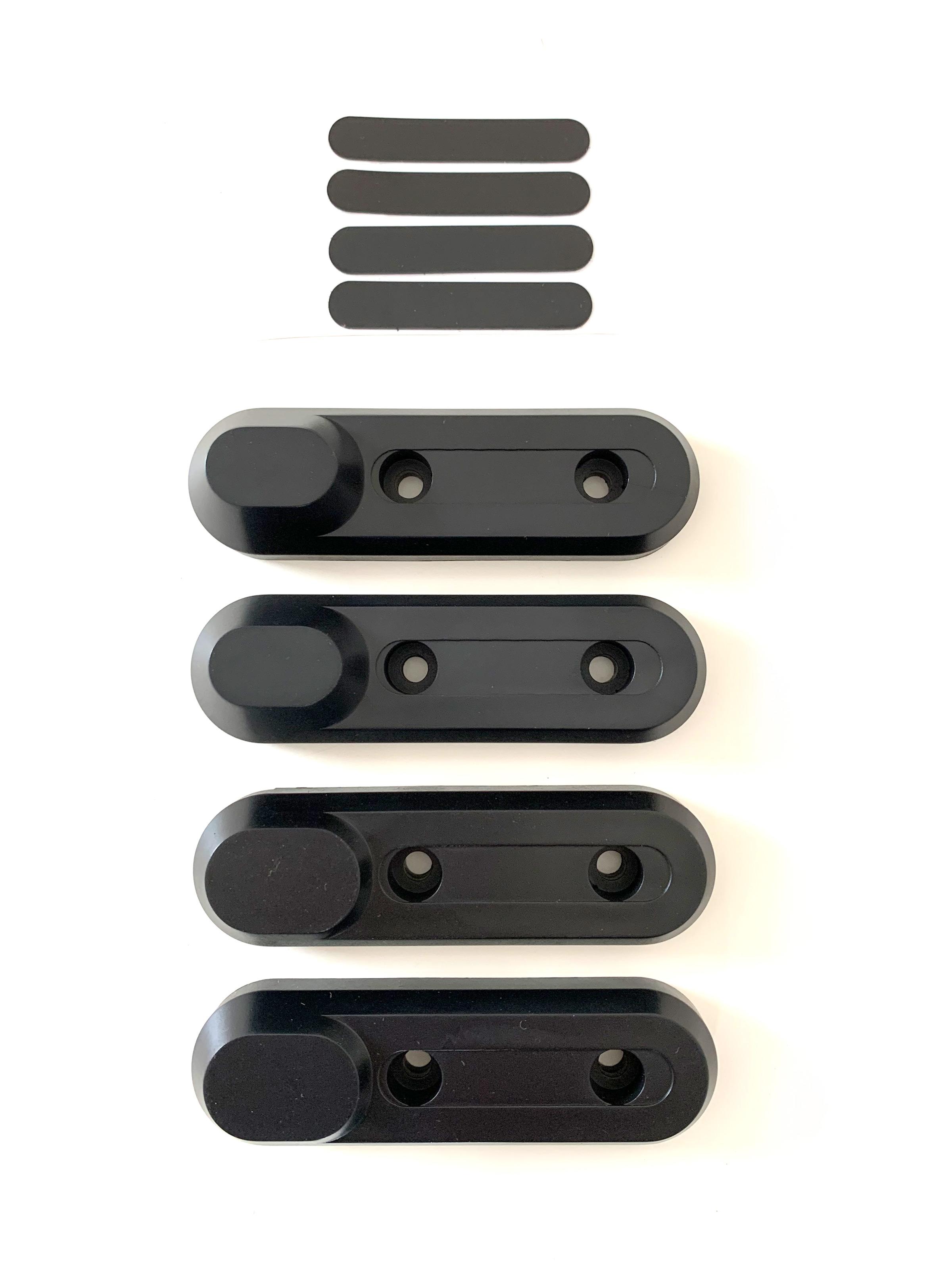 Komplettes deco Set vorne und hinten (schwarz)