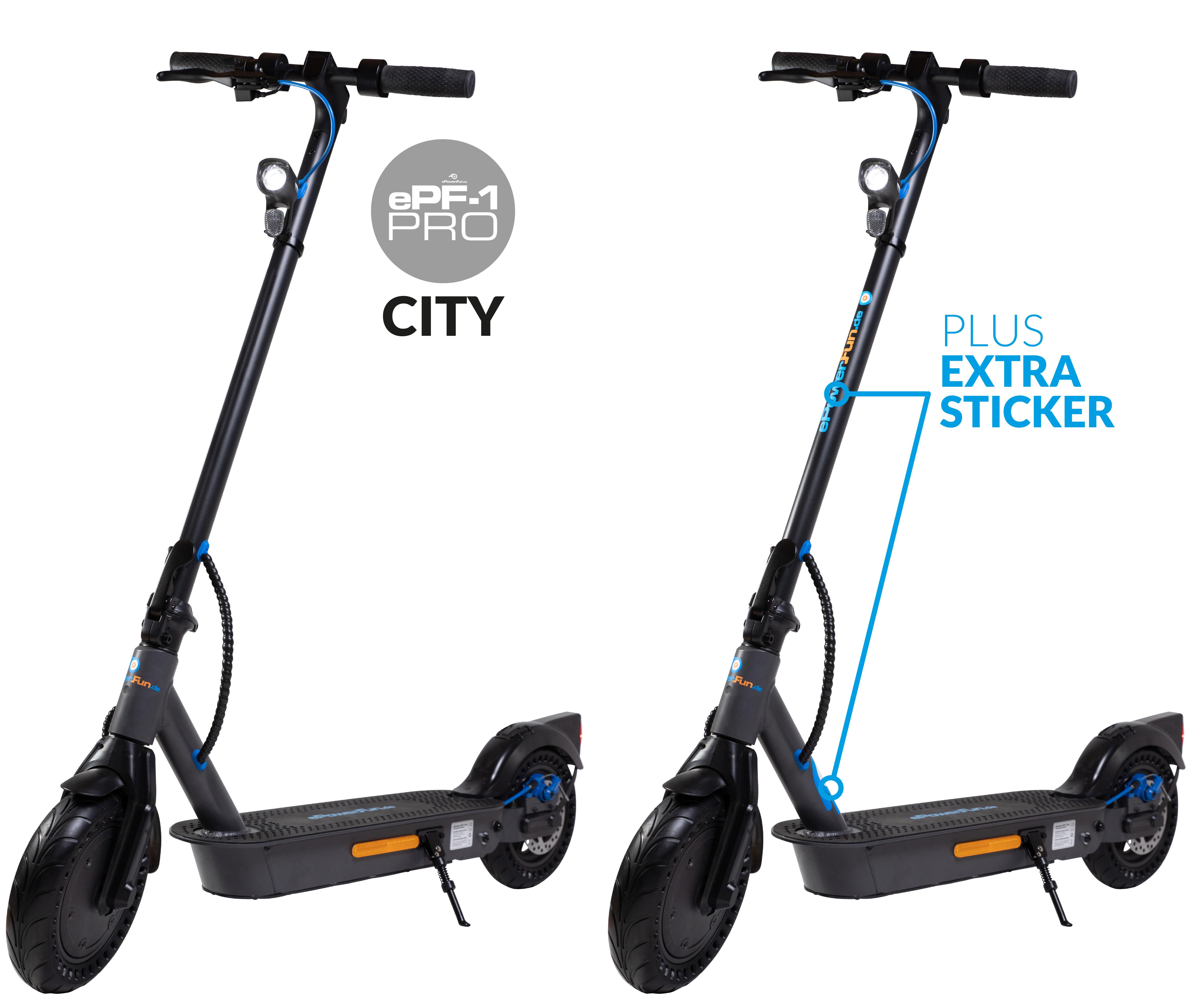Vorbestellung - ePF-1 PRO City eScooter mit Straßenzulassung