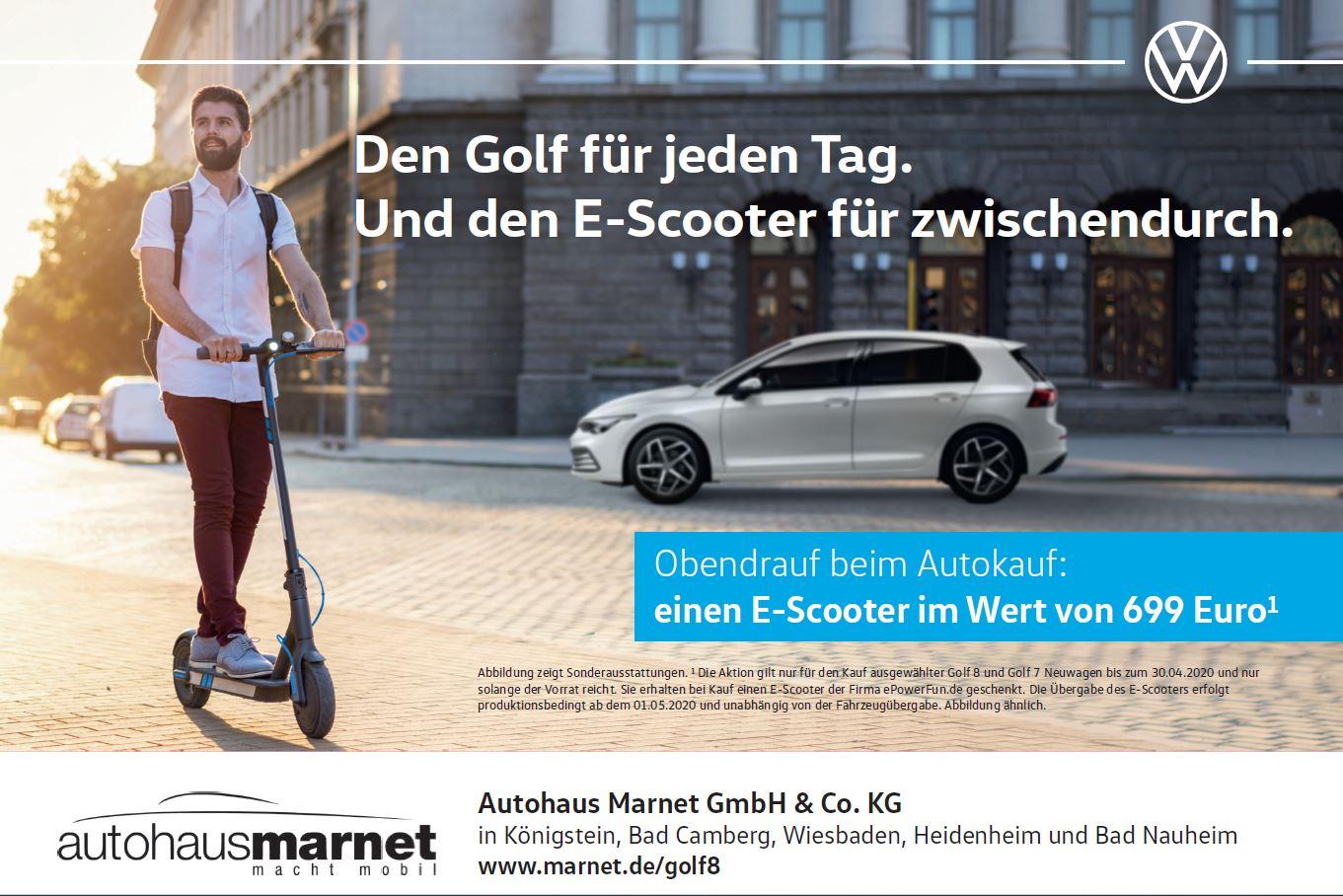 "E-Scooter ePF-1 mit Straßenzulassung ""Autohaus Marnet Edition"""