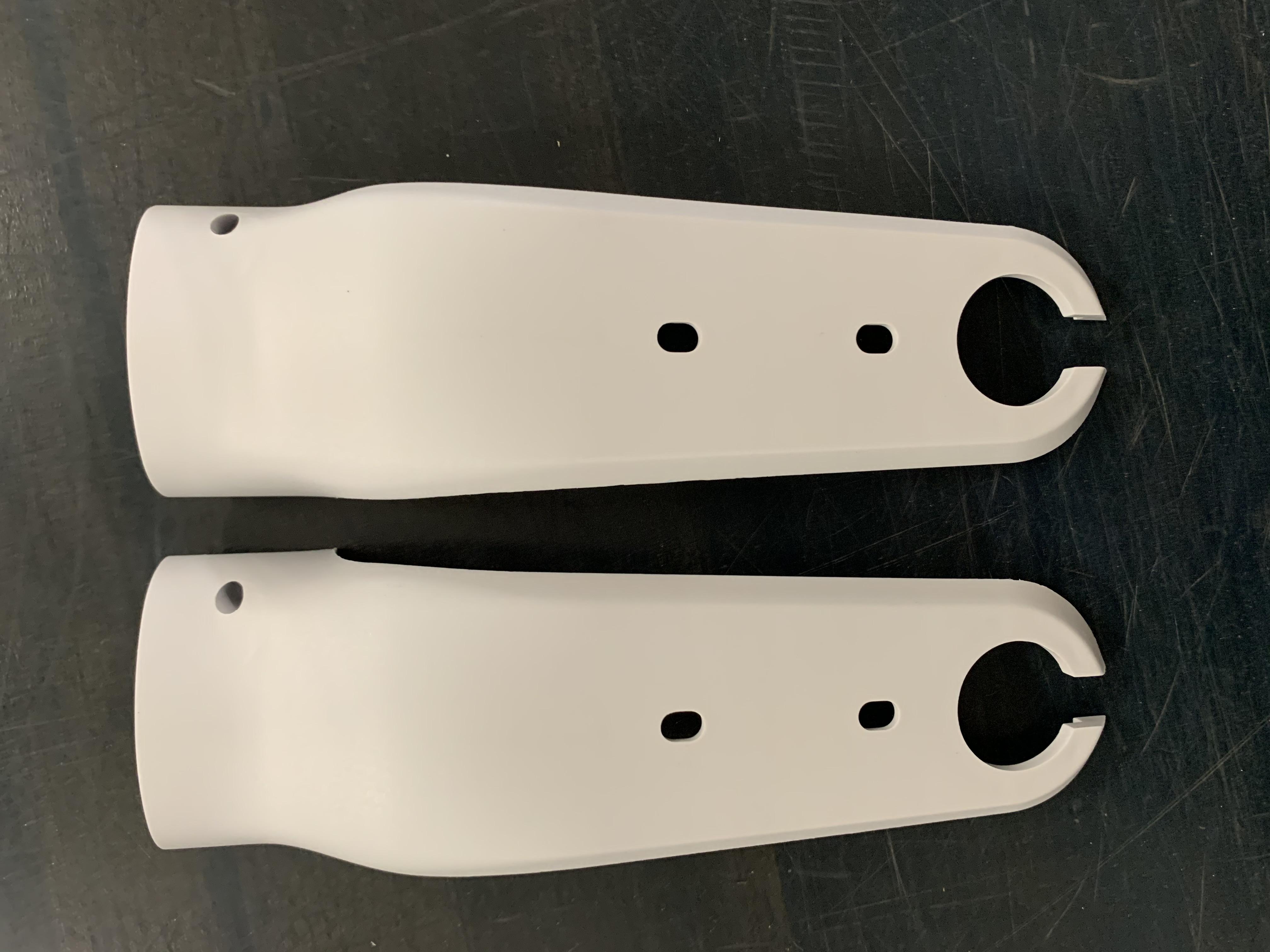 Verkleidung der Vordergabel weiß